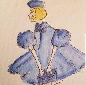 Barbie inspired watercolor